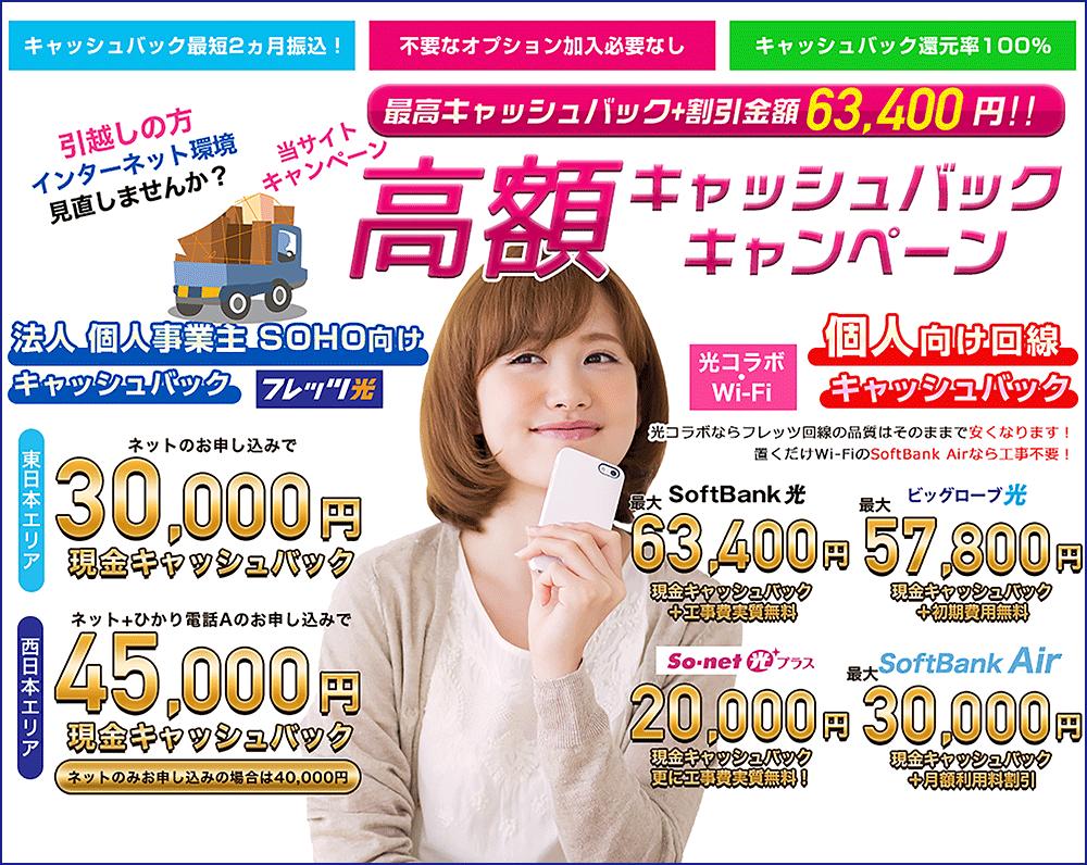 フレッツ光[法人・個人事業主(SOHO)向け] 代理店「株式会社NEXT」キャンペーン